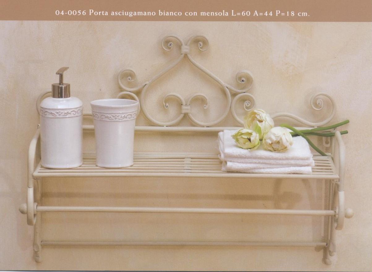 Mobiletti e accessori bagno in ferro battuto hancock for Mensole in ferro battuto