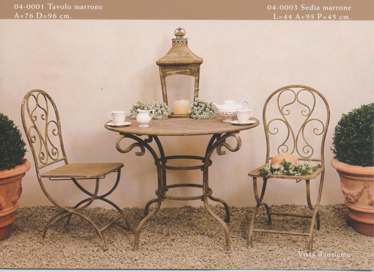 Tavolini sedute oggetti arredamento per esterno e for Sedie da esterno in ferro battuto