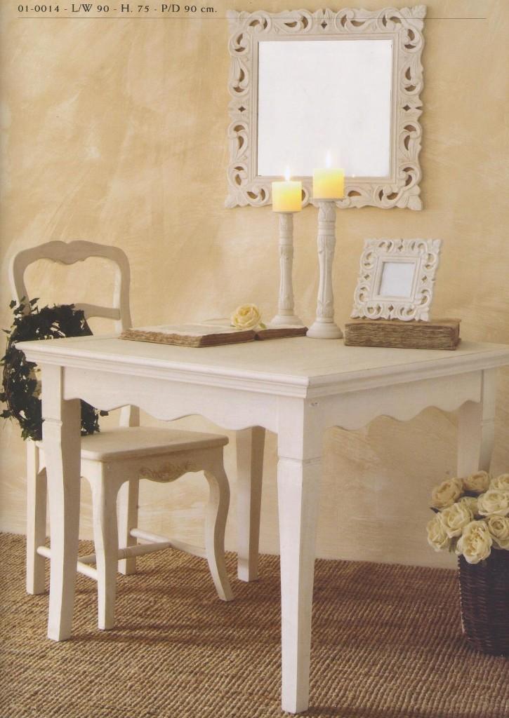 Tavoli e tavolini provenzali country provence bianchi - Stile provenzale mobili ...