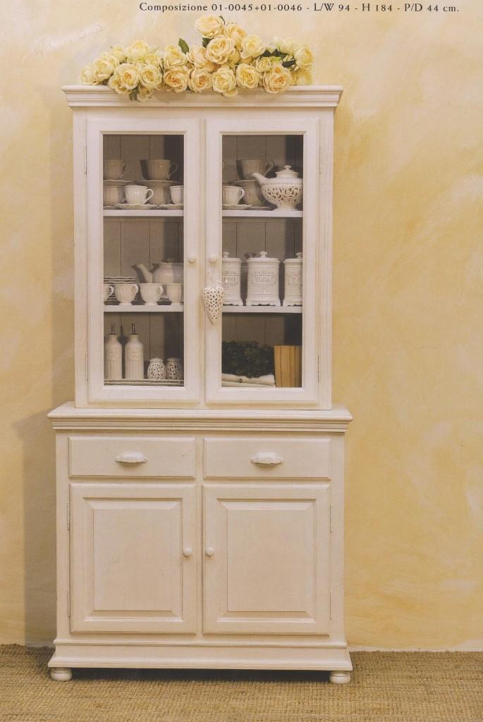 Credenze Provenzali country Provence bianche, mobili per la Cucina